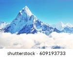 Mountain Peak Everest. Highest...