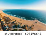 aerial view of the shoreline in ... | Shutterstock . vector #609196643