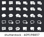 speech bubbles icon set ...