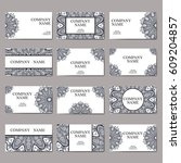 vector template business card.... | Shutterstock .eps vector #609204857
