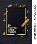 trendy modern mockup design... | Shutterstock .eps vector #609206327