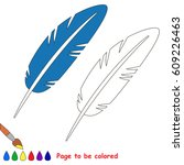 feather to be colored  the... | Shutterstock .eps vector #609226463