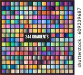 set of 244 gradients color