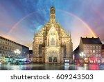 nuremberg  cathedral... | Shutterstock . vector #609243503