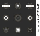 ornament logos design templates ... | Shutterstock .eps vector #609251447