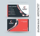 double sided business card... | Shutterstock .eps vector #609256757