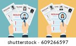 man and woman resume with...   Shutterstock . vector #609266597
