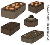 vector set of brownie   Shutterstock .eps vector #609269993