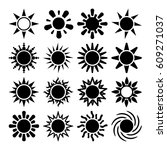 sun silhouette icons  abstract...
