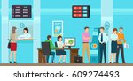 banking services of all kind... | Shutterstock .eps vector #609274493