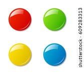 colored magnets isolated on... | Shutterstock .eps vector #609283313