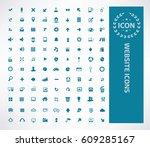 website icon set clean vector | Shutterstock .eps vector #609285167