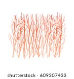 beautiful forest silhouette ... | Shutterstock .eps vector #609307433