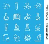 research icons set. set of 16... | Shutterstock .eps vector #609317363