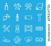 maintenance icons set. set of... | Shutterstock .eps vector #609319733