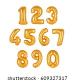 numbers of orange color... | Shutterstock . vector #609327317