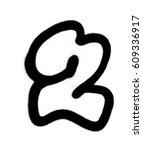Graffiti Bubble Font Number 2...