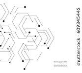 hexagons genetic  science ... | Shutterstock .eps vector #609345443