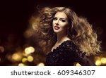 hair beauty  fashion model long ... | Shutterstock . vector #609346307