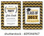 graduation party vector...   Shutterstock .eps vector #609346967