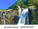 the famous ramboda falls in the ... | Shutterstock . vector #609350537