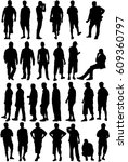 silhouette of a man. | Shutterstock .eps vector #609360797