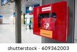 heart defibrillator in public... | Shutterstock . vector #609362003