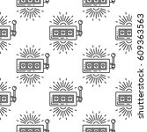 seamless vector pattern with a...   Shutterstock .eps vector #609363563