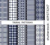 tribal vector pattern pattern... | Shutterstock .eps vector #609373247