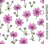 vector seamless pattern with... | Shutterstock .eps vector #609384983