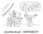 nehemiah asks the king of...   Shutterstock . vector #609408197