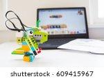 dinosaur robot from the ...   Shutterstock . vector #609415967