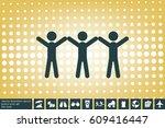 3 people icon  vector... | Shutterstock .eps vector #609416447