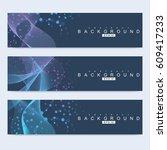 scientific set of modern vector ... | Shutterstock .eps vector #609417233