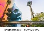 seattle washington usa  04 15... | Shutterstock . vector #609429497