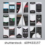 templates  narrow black flyers. ... | Shutterstock .eps vector #609433157