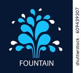 Vector Icon Fountain. Logo...
