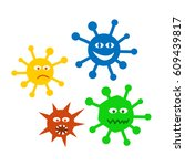 set vector icons viruses.... | Shutterstock .eps vector #609439817