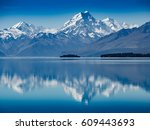 mt. hood reflection in calm... | Shutterstock . vector #609443693