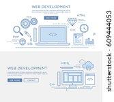 development banner | Shutterstock .eps vector #609444053