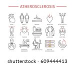atherosclerosis. symptoms ... | Shutterstock .eps vector #609444413