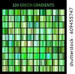 green ecology gradients 100 big ... | Shutterstock . vector #609455747