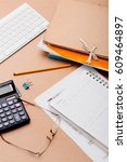 time to fill individual income... | Shutterstock . vector #609464897