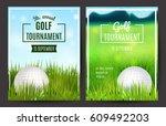 golf tournament poster template....   Shutterstock .eps vector #609492203
