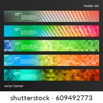 set design elements business... | Shutterstock .eps vector #609492773