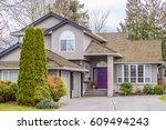 luxury house in vancouver ... | Shutterstock . vector #609494243