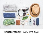 men's casual summer clothes...   Shutterstock . vector #609495563