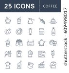 set  line icons with open path... | Shutterstock . vector #609498017