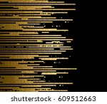 banner with gold texture lines... | Shutterstock .eps vector #609512663