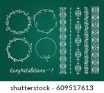 big set of elegant decorative...   Shutterstock .eps vector #609517613